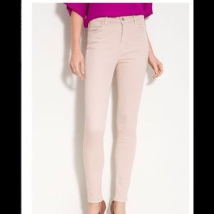 J BRAND Maria High Rise Legging Jeans in Nude 26